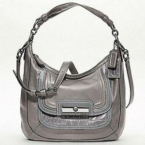 Coach Kristin Spectator Leather Grey Hobo Handbag